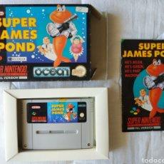 Videojuegos y Consolas: SUPER JAMES POND COMPLETO SUPER NINTENDO SNES. Lote 175598215