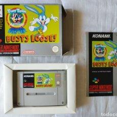 Videojuegos y Consolas: TINY TOON BUSTER BUSTS LOOSE SUPER NINTENDO SNES. Lote 175598277