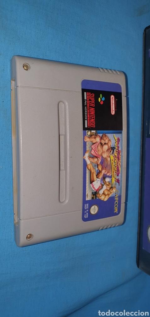 Videojuegos y Consolas: Juego cartucho para súper nintendo street fighter 2 turbo - Foto 2 - 175764490