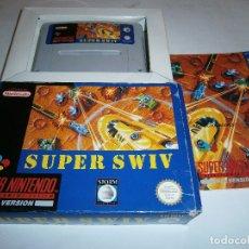 Videojuegos y Consolas: SUPER SWIV SUPER NINTENDO SNES PAL COMPLETO. Lote 175947885