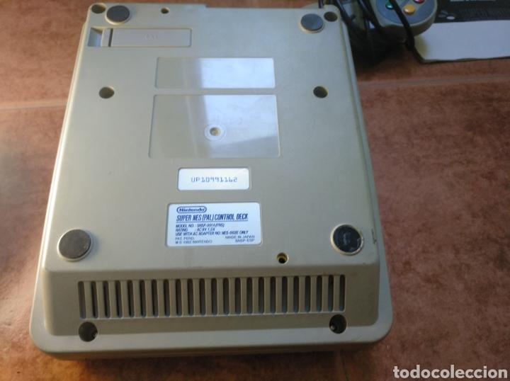 Videojuegos y Consolas: Consola super Nintendo original 1992 super street fighter 2 con mando y cables originales. - Foto 11 - 176203450