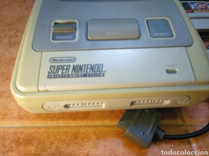 Videojuegos y Consolas: Consola super Nintendo original 1992 super street fighter 2 con mando y cables originales. - Foto 13 - 176203450