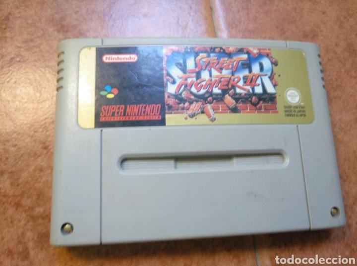 Videojuegos y Consolas: Consola super Nintendo original 1992 super street fighter 2 con mando y cables originales. - Foto 18 - 176203450