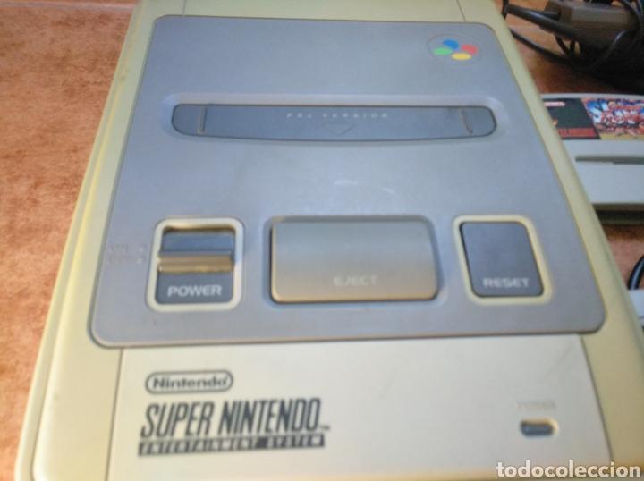 Videojuegos y Consolas: Consola super Nintendo original 1992 super street fighter 2 con mando y cables originales. - Foto 31 - 176203450