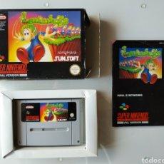 Videojuegos y Consolas: LEMMINGS SUPER NINTENDO SNES. Lote 178136124