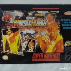 Videojuegos y Consolas: FICHA NINTENDO/MATUTANO Nº27/SUPER WRESTLEMANIA. . Lote 179312717