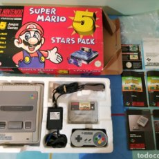 Videojuegos y Consolas: CONSOLA SOBREMESA SUPER NINTENDO SNES SUPER MARIO 5 STARS PACK. Lote 179559472