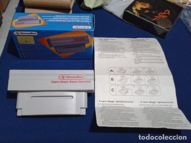 Videojuegos y Consolas: ADAPTADOR SUPER MAGIC GAME CONVERTER ( HONEY BEE ) PARA SUPER NINTENDO SNES FAMICOM JAPAN USA - Foto 2 - 180409721