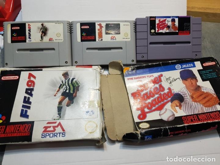 LOTE JUEGOS SÚPER NINTENDO 3 SÚPER BASES LOADED ETC (Juguetes - Videojuegos y Consolas - Nintendo - SuperNintendo)