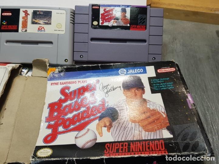 Videojuegos y Consolas: Lote juegos Súper Nintendo 3 Súper Bases Loaded etc - Foto 2 - 181173568