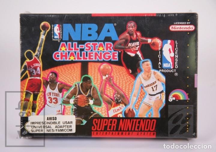 VIDEOJUEGO PRECINTADO PARA CONSOLA SUPER NINTENDO - NBA ALL-STAR CHALLENGE / BALONCESTO - AÑO 1992 (Juguetes - Videojuegos y Consolas - Nintendo - SuperNintendo)