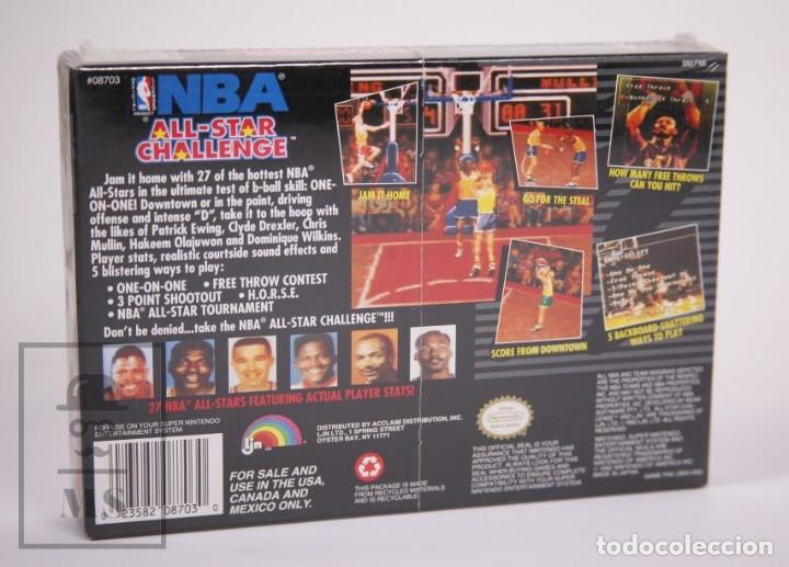 Videojuegos y Consolas: Videojuego Precintado para Consola Super Nintendo - NBA All-Star Challenge / Baloncesto - Año 1992 - Foto 3 - 182499487