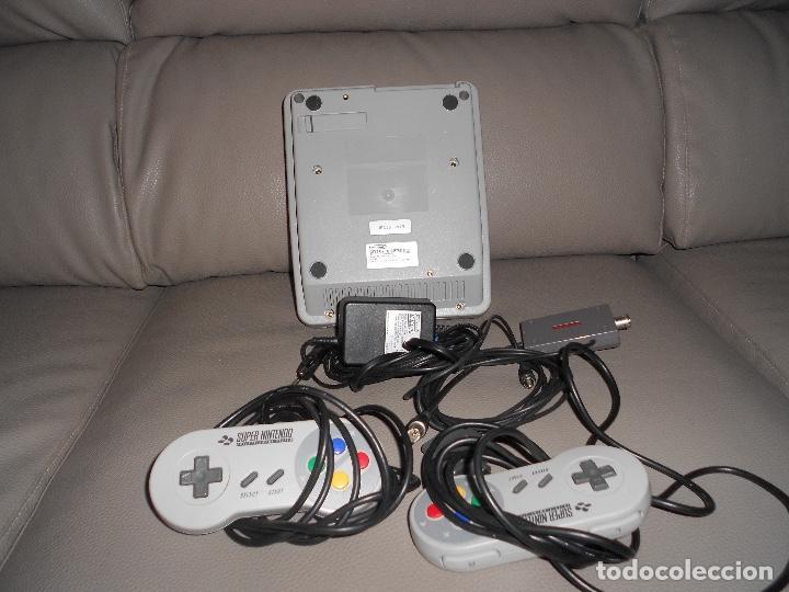 Videojuegos y Consolas: Consola Super Nintendo Snes 2 mandos COMPLETA FUNCIONANDO SIN CAJA AÑOS 90 - Foto 3 - 183818655