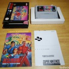 Videojuegos y Consolas: SUPER DOUBLE DRAGON SUPER NINTENDO SNES. Lote 186024058