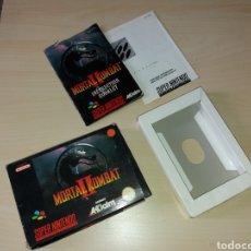 Videojuegos y Consolas: ANTIGUA CAJA VACÍA CON MANUAL SÚPER NINTENDO - MORTAL KOMBAT II. Lote 198308385