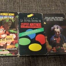 Videojuegos y Consolas: LOTE 3 CINTAS VHS NINTENDO. Lote 190044372