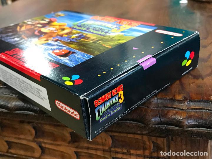 Videojuegos y Consolas: SUPER NINTENDO SNES DONKEY KONG COUNTRY 3 COMPLETO CAJA Y MANUAL VERSION ESPAÑOLA - Foto 4 - 192756832