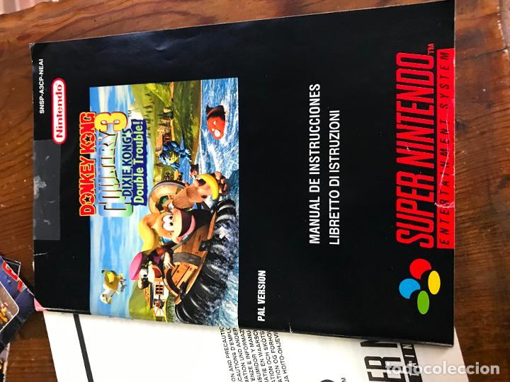 Videojuegos y Consolas: SUPER NINTENDO SNES DONKEY KONG COUNTRY 3 COMPLETO CAJA Y MANUAL VERSION ESPAÑOLA - Foto 7 - 192756832
