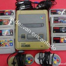 Videojuegos y Consolas: SUPERNINTENDO. LOTE CONSOLA + 8 CARTUCHOS ORIGINALES. VER FOTOS. Lote 192901392