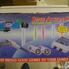 Videojuegos y Consolas: CONSOLA SUPER ACTION SET COMPATIBLE CON SUPER NINTENDO SNES 5000 BUILT IN. Lote 197247158