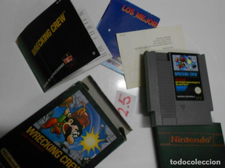 Videojuegos y Consolas: ANTIGUO CARTUCHO JUEGO ORIGINAL WRECKING CREW NUEVO EN SU CAJA CON INSTRUCCIONES VERSION ESPAÑOLA - Foto 2 - 197813560
