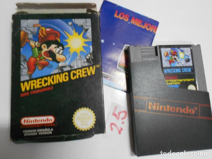 ANTIGUO CARTUCHO JUEGO ORIGINAL WRECKING CREW NUEVO EN SU CAJA CON INSTRUCCIONES VERSION ESPAÑOLA (Juguetes - Videojuegos y Consolas - Nintendo - SuperNintendo)