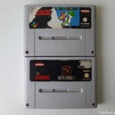 Videojuegos y Consolas: MORTAL KOMBAT 1 Y 3 SUPER NINTENDO SNES. Lote 198256457