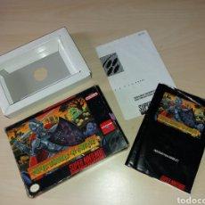 Videojuegos y Consolas: ANTIGUA CAJA VACÍA CON MANUAL SÚPER NINTENDO - SUPER CHOULS 'N GHOSTS. Lote 198308456