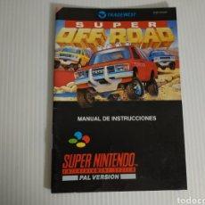 Videojogos e Consolas: MANUAL SUPER OFF ROAD SUPER NINTENDO SNES. Lote 198856598
