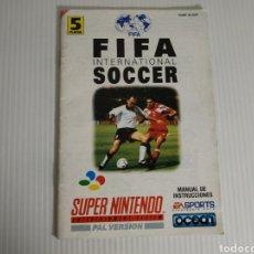 Videojogos e Consolas: MANUAL FIFA INTERNATIONAL SOCCER SUPER NINTENDO SNES. Lote 198857331