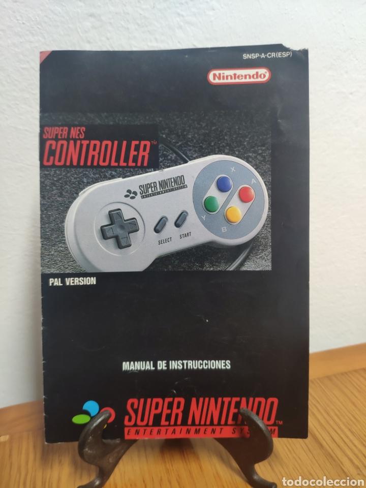 MANUAL DE INSTRUCCIONES SUPER NINTENDO CONTROLLER SUPER NES (Juguetes - Videojuegos y Consolas - Nintendo - SuperNintendo)