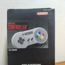 Videojogos e Consolas: MANUAL DE INSTRUCCIONES SUPER NINTENDO CONTROLLER SUPER NES. Lote 198926823