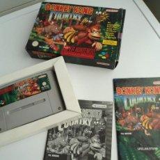 Videojuegos y Consolas: DONKEY KONG COUNTRY - SUPER NINTENDO SUPERNINTENDO SNES - COMPLETO - MUY BUEN ESTADO. Lote 199069362