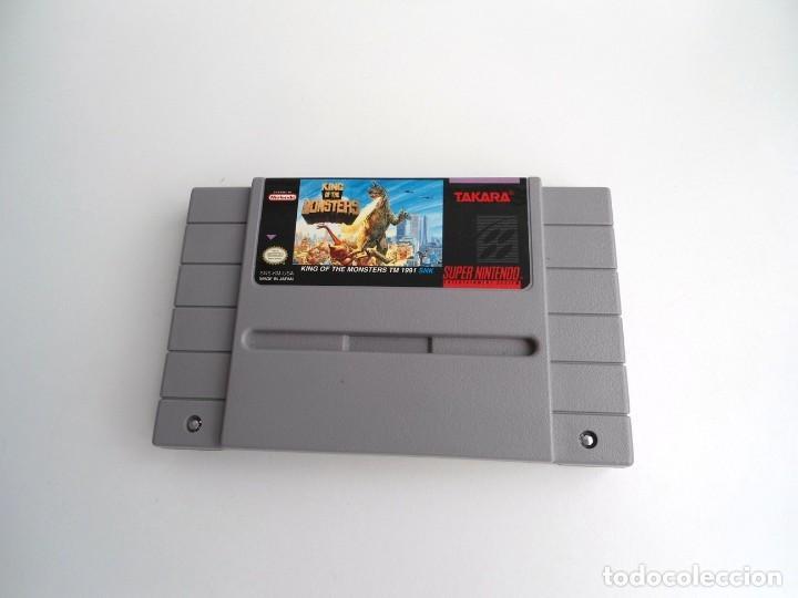 Videojuegos y Consolas: KING OF MONSTERS NTSC USA - SUPER NINTENDO SUPERNINTENDO SNES - CARTUCHO - MUY BUEN ESTADO - Foto 2 - 199173801