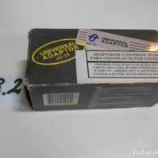 Videojuegos y Consolas: ADAPTADOR UNIVERSAL PARA CONSOLAS SUPERNINTENDO EN LA CONSOLA PAL ESPAÑOLA NUEVO EN SU CAJA. Lote 199524283