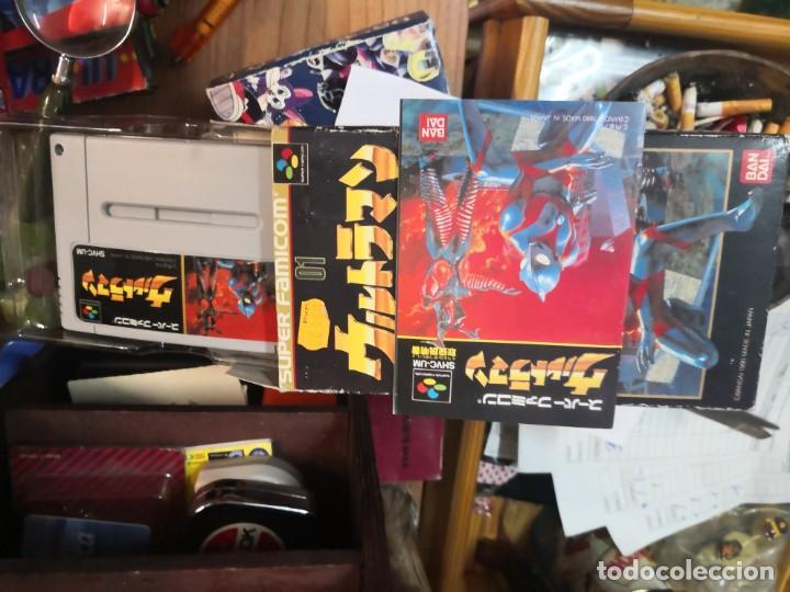 ULTRAMAN JUEGO SUPER NINTENDO SUPER FAMICOM BANDAI 1990 JAPAN EN CAJA SIN USO Y CON MANUAL (Juguetes - Videojuegos y Consolas - Nintendo - SuperNintendo)