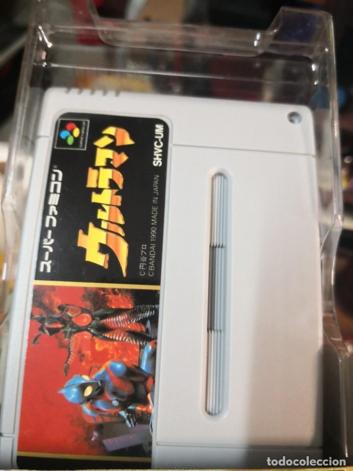 Videojuegos y Consolas: ULTRAMAN juego SUPER NINTENDO Super Famicom Bandai 1990 japan en caja sin uso y con manual - Foto 2 - 199707961