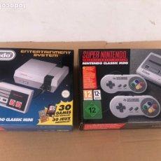Videojuegos y Consolas: SUPER NINTENDO Y NINTENDO CLASSIC MINI. Lote 199708517