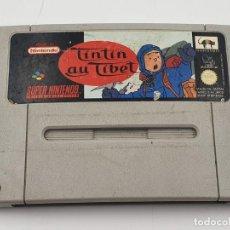 Videojuegos y Consolas: TINTIN EN EL TIBET AU FAH SUPER NINTENDO SNES PAL SNES JEU. Lote 199757727