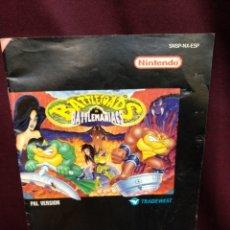 Videojuegos y Consolas: MANUAL BATTLETOADS, SUPER NINTENDO. Lote 199806375