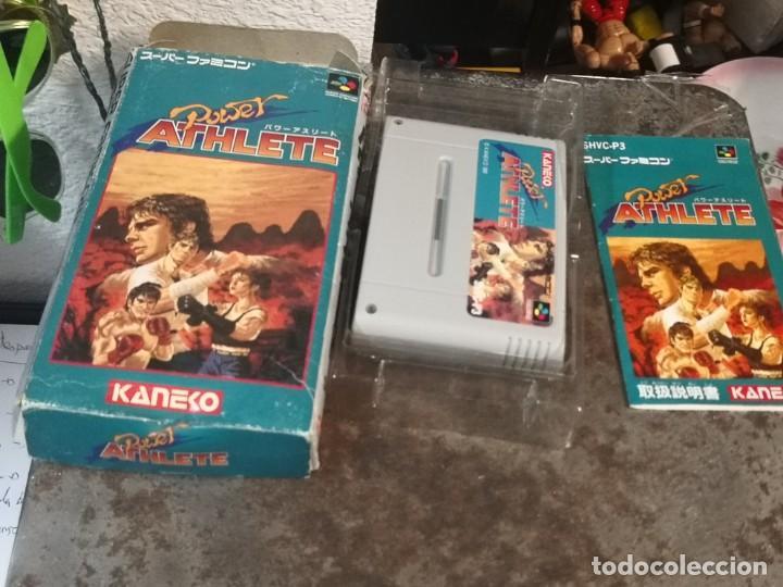 JUEGO POWER ATHLETE. KANEKO. MADE IN JAPÓN. SUPER FAMICOM (Juguetes - Videojuegos y Consolas - Nintendo - SuperNintendo)