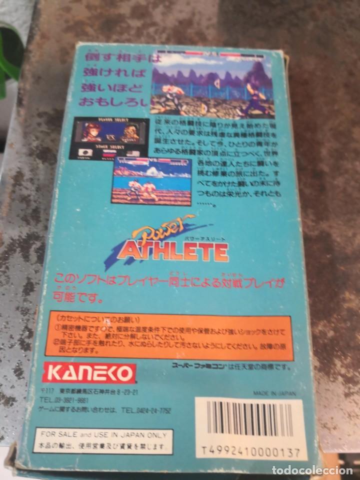 Videojuegos y Consolas: Juego POWER ATHLETE. KANEKO. MADE IN JAPÓN. SUPER FAMICOM - Foto 5 - 199930455