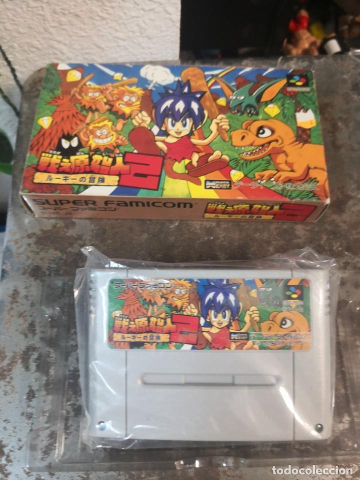 RARO JUEGO TIPO ERA DINOSAURIO . MADE IN JAPÓN. SUPER FAMICOM (Juguetes - Videojuegos y Consolas - Nintendo - SuperNintendo)