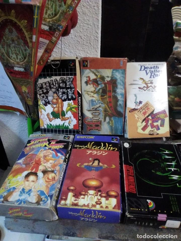 LOTE 6 JUEGOS SUPER NINTENDO DE FAMICOM Y OTROS EN SU CAJA (STREET FIGHTER, ALADIN, ALIEN Y OTROS) (Juguetes - Videojuegos y Consolas - Nintendo - SuperNintendo)
