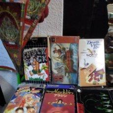 Videojuegos y Consolas: LOTE 6 JUEGOS SUPER NINTENDO DE FAMICOM Y OTROS EN SU CAJA (STREET FIGHTER, ALADIN, ALIEN Y OTROS) . Lote 200370401