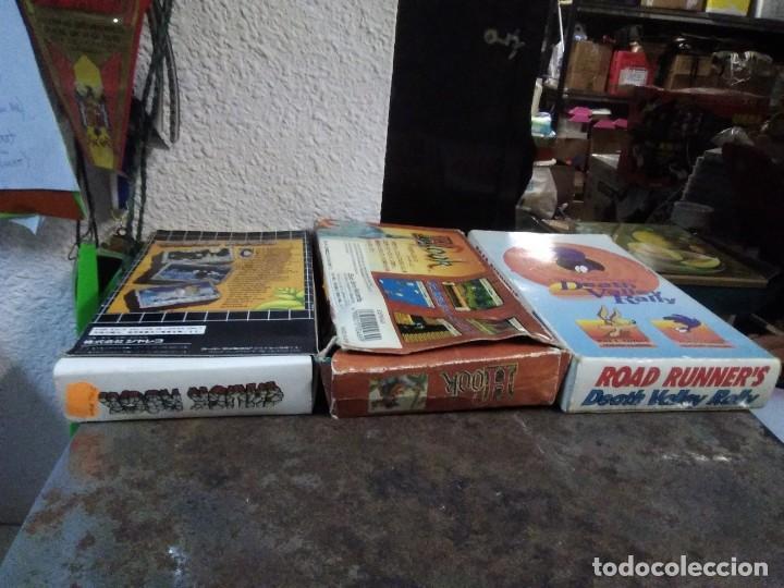 Videojuegos y Consolas: Lote 6 Juegos SUPER NINTENDO de Famicom y otros en su caja (Street fighter, Aladin, alien y otros) - Foto 4 - 200370401