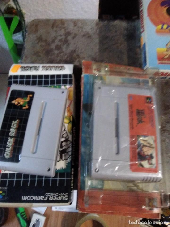 Videojuegos y Consolas: Lote 6 Juegos SUPER NINTENDO de Famicom y otros en su caja (Street fighter, Aladin, alien y otros) - Foto 5 - 200370401