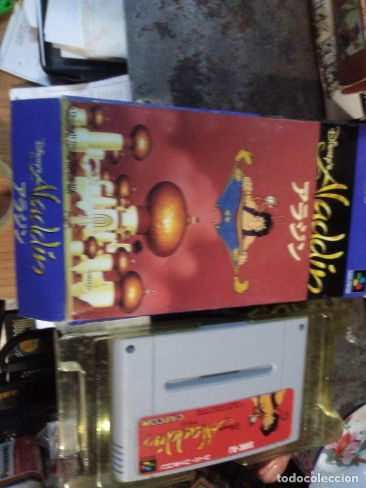 Videojuegos y Consolas: Lote 6 Juegos SUPER NINTENDO de Famicom y otros en su caja (Street fighter, Aladin, alien y otros) - Foto 9 - 200370401