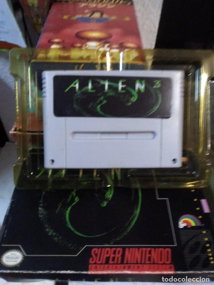 Videojuegos y Consolas: Lote 6 Juegos SUPER NINTENDO de Famicom y otros en su caja (Street fighter, Aladin, alien y otros) - Foto 10 - 200370401