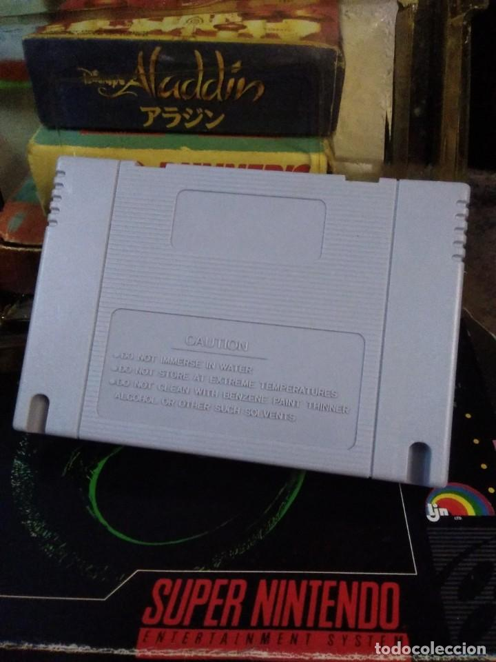 Videojuegos y Consolas: Lote 6 Juegos SUPER NINTENDO de Famicom y otros en su caja (Street fighter, Aladin, alien y otros) - Foto 11 - 200370401
